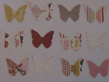 70+ Bohemian Butterflies paper punch outs- double sided prints, pink, gray, gold