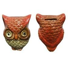 New! CUTE OWL CERAMIC GLOSSY PAINTED PIGGY BANK COIN MONEY HOLDER HOME DECOR