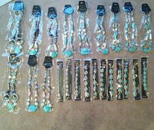 wholesale lot of costume jewelry turquoise necklaces & bracelets 23 pieces *NEW*