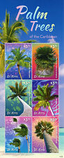 St Kitts 2015 MNH Palm Trees of Caribbean 6v M/S Coconut Palmetto Stamps