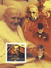 WALT DISNEY EINSTEIN PRINCESS DI CHURCHILL ICONS 20th CENTURY MNH STAMP SHEETLET