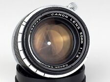 CANON 1.8/50 M39 LEICA mount LENS Canon Camera Co. Japan 50 mm