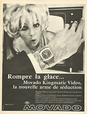 Publicité Advertising 1968  Montre MOVADO Kingmatic Video