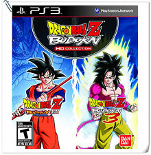 2 IN 1 PS3 Dragon Ball Z Budokai HD Collection SONY Namco Bandai Fighting Games