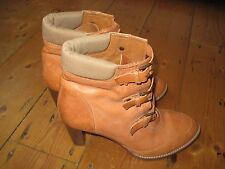 Designer J Crew Ladies Leather Ankle Boots Size 8.5 UK VGC JCREW LADIES SHOES