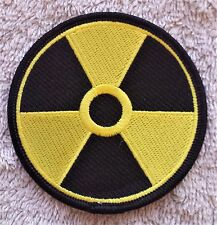 "RADIATION PATCH 3"" Cloth Badge/Emblem/Insignia Nuclear Biker Jacket Bag Iron Sew"