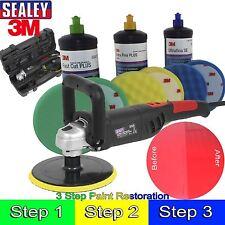 Sealey & 3m Car Body Car Kit Digital Polisher/3M Polish Paint Restoration Kit