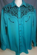 Gibson Trading Company Embroidered Snap Front L/S Western Shirt - Men's Size XLT