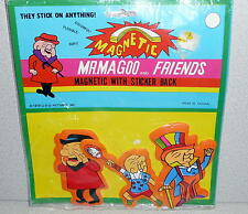Vintage Mr. MAGOO Magnetic PUFFY STICKERS Unused In Package 1979 UPA Picures Inc