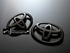2012 2013 2014 TOYOTA 86 ZN6 SCION FR-S FRONT REAR EMBLEM CARBON LOOK TOYOTA JDM