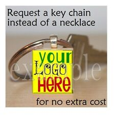 YOUR LOGO HERE Personalized Custom Design Image Scrabble Necklace Charm Keychain