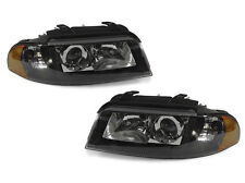 DEPO 1999-2001 AUDI A4 00-02 S4 B5 XENON D2S BLACK HOUSING XENON HEADLIGHTS