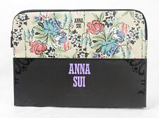 "Anna Sui Cabbage Rose Laptop Sleeve case for macbook up to 13"" floral- Tan"