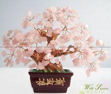 Pink Rose Crystal Gemstone Tree Feng Shui For Love