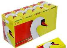 Swan Slim Line Filter Tips Smoking Cigarettes Slimline FULL BOX of 10 Packs
