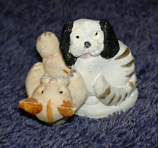Peter Fagan Colour Box Ginger Cat & black & White Dog 2.5x3cm