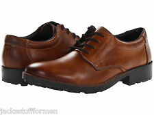 Rieker 16021 Ron Mens US 11 - 11.5 (EU 45) Brown Leather Plain Toe Oxfrods Shoes