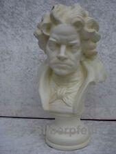 Wunderschöne Beethoven Büste Kopf Dekoration Stuckgips Skulptur Möbel Deko Crem