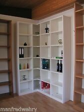 Eckregal in Weiß lackiert Regal Bücherregal Ecke Weißlack Ecklösung Massivholz