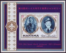 Manama 1971 Scout Pfadfinder, Neil Armstrong, Eisenhower, Mi.557: Bl.111A