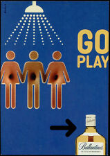cartolina pubblicitaria PROMOCARD n.3046 BALLANTINE'S SCOTCH WHISKY GO PLAY