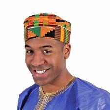 Kente Kufi Hat Style #2: fabulous Men African Cap fabric, free shipping