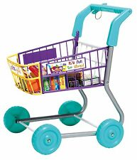 Toy Grocery Shopping Cart Trolley- Includes Play Food , New, Free Shipping