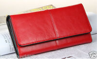 Lady's NEW Handbag Women's REAL Leather Wallet Clutch Purse Credit Card Holder