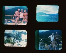 MINOLTA 16MM VINTAGE SLIDES, SET OF 13, PEOPLE BY SWIMMING POOL,OUTDOOR,BOATS AN