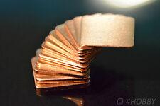 Set 12 Kupferplättchen 0,3-1,5 Kupferpad Wärmeleiter CPU Wärmeleitplättchen Pad