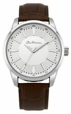 Ben Sherman Men's Watch Silver Dial Analogue   Brown PU Strap BS094