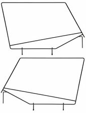 Rampage Soft Upper Door Window Frame Set 1987-1995 Jeep Wrangler YJ 89699
