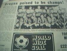 news item 1972 football bruges belgian league team picture