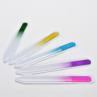 2 Pcs Durable Crystal Glass Nail File Buffer Art Files Manicure Device Tools