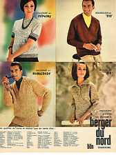 PUBLICITE ADVERTISING 084  1963  BERGER DU NORD  laines