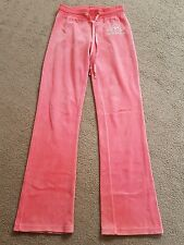 GENUINE DESIGNER JUICY COUTURE PINK TRACKSUIT TROUSERS JOGGING BOTTOMS M