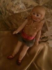 "Antique German tiny Doll 3"" Mignonette Flapper miniature Dollhouse Dolls Bisque"