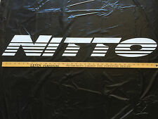 "NEW LARGE White Nitto Tires Windshield Vinyl Sticker Decal 36"" x 5"""