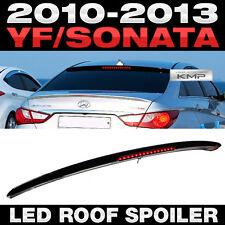 Glass Wings Rear Roof LED Spoiler Black Painted For HYUNDAI 2011-2014 YF Sonata