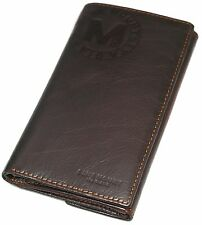 Vintage Men's Leather Long Wallet Credit Card Holder ID Window Coin Pocket Purse