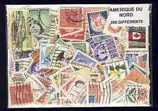 Amérique du Nord 200 timbres différents oblitérés tous pays