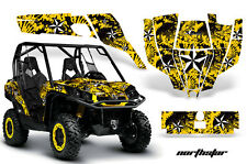 AMR Racing CanAm Commander Graphic Decal Kit UTV Accessories All Years NSTAR YLW