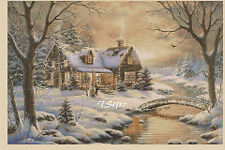 Cross Stitch Chart - winter country cottage No..346a   FREE UK P&P. TSG37