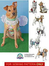 SEWING PATTERN! MAKE DOG CLOTHES~COSTUMES! SANTA~FAIRY~DRESS~SHIRTS! SMALL~LARGE