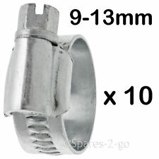 10 x Worm Drive Metal Hose Clamp Jubilee Type Steel Pipe Clip Small 9 - 13 mm