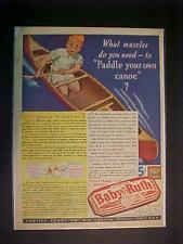 OLD CURTISS CANDIES ~BABY RUTH CANDY BAR PRINT AD~ ORIGINAL VINTAGE ANTIQUE 1936