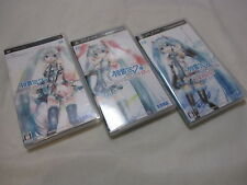 Used PSP Project Diva 1st 2nd extend 3set Hatsune Miku Japanese Version Vocaloid