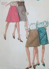 "USED+VINTAGE 1966 SIMPLICITY SKIRTS SEWING PATTERN 6695 SIZE 34""W/44""H FREE POST"