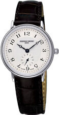 NEW FREDERIQUE CONSTANT SLIM LINE LADIES SILVER GUILLOCHE DIAL WATCH FC-235AS1S6