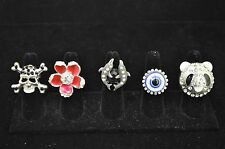 WHOLESALE LOT 5 PCS MIX COLLECTION COSTUME JEWELRY RINGS TU-480 US-SELLER